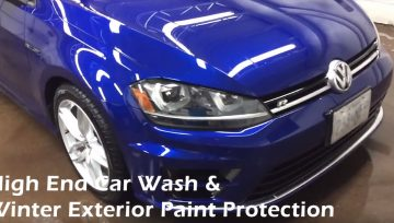 High End Car Wash - Winter Exterior Paint Protection - VW Golf Auto Detailing Toronto